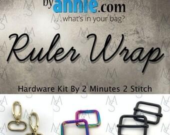 Ruler Wrap - ByAnnie - Hardware Kit by 2 Minutes 2 Stitch