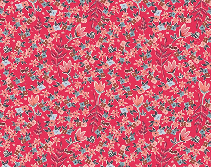 Charleston by Art Gallery - Garden of Dreams Rouge - Cotton/Spandex Knit