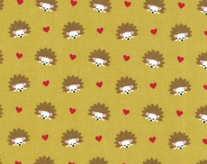 Fox Woods by Michael Miller - Hedgehog Heaven Olive - Cotton Woven Fabric