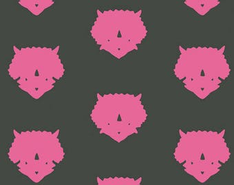 Esoterra by Art Gallery Fabrics - Triceratops-Pink - Cotton Woven Fabric