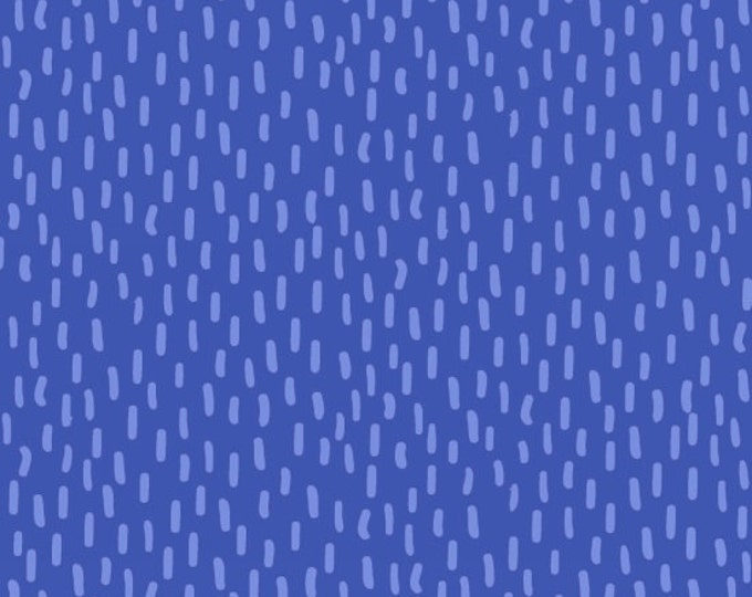 Kitten Kaboodle by Blank Quilting - Tonal Lines Blue - Cotton Woven Fabric