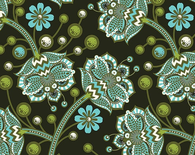 The Birds and The Bees by Tula Pink - Bees Knees in Forest PWTP026 - Cotton Woven Fabric