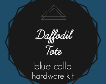 Daffodil Tote - Blue Calla Hardware Kit - Swivel Clips, D-Rings