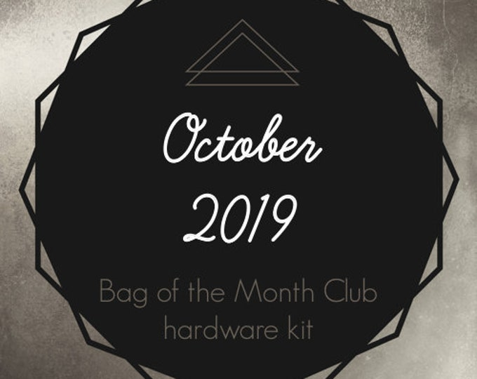Bag of the Month Club - October 2019 Hardware Kit - Erin Gilbey of Dog Under My Desk
