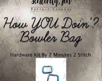 How YOU Doin'? Bowler Bag - Sincerely, Jen - Hardware Only