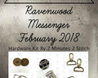 Ravenwood Messenger - Bag of the Month Club - Betz White - February 2018 Hardware Kit