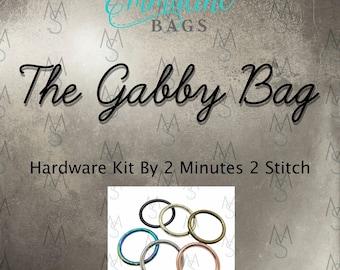 Gabby Bag Hardware Kit - Emmaline Bags - Hardware Kit by 2 Minutes 2 Stitch