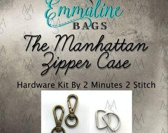 Manhattan Zipper Case - Emmaline Bags - Hardware Kit by 2 Minutes 2 Stitch