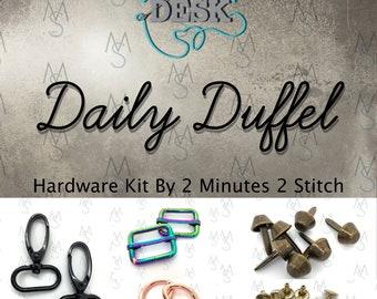 Daily Duffel Hardware Kit - Dog Under My Desk - 2 Minutes 2 Stitch - Duffel Hardware