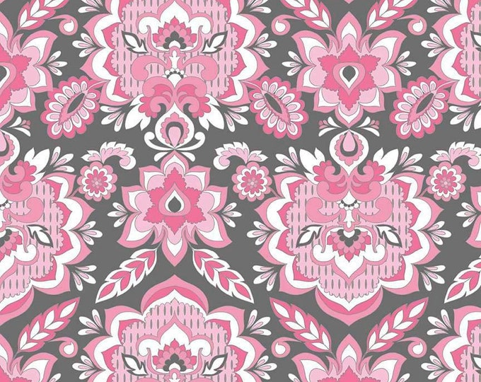 Fantine by Riley Blake - Damask Pink - Cotton Woven Fabric
