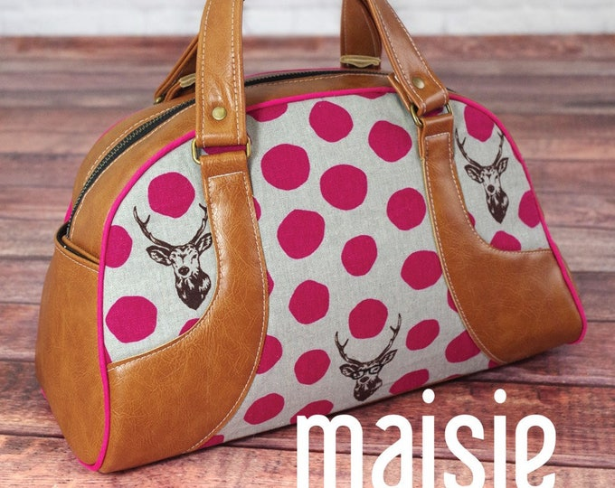 Maisie Bowler Handbag - Swoon Patterns - Bag Pattern