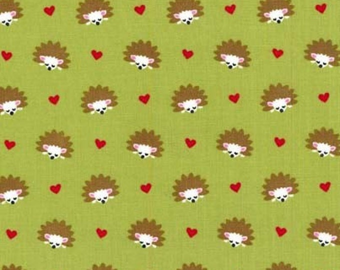 Fox Woods by Michael Miller - Hedgehog Heaven Lime - Cotton Woven Fabric