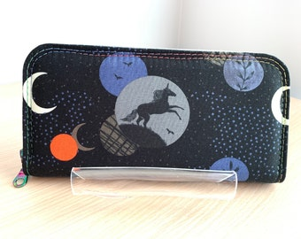 Classic Zip Around Wallet - Full Size Ladies Wallet - Fashion Wallet - Handbag Accessory - Coin Purse - Card Holder - Wallet - Unicorn