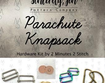 Parachute Knapsack Hardware Kit - Sincerely, Jen - 2 Minutes 2 Stitch - Backpack Hardware
