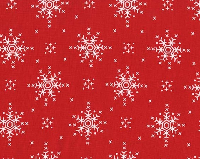Woodland Winter by Michael Miller - Stitch Snowflake Santa - Cotton Woven Fabric