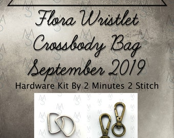 Flora Wristlet Crossbody Bag - Bag of the Month Club - September 2019 Hardware Kit - Janelle MacKay of Emmaline Bags