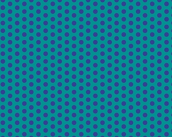 Dot Crazy by Benartex - Medium Dot Teal - Cotton Woven Fabric
