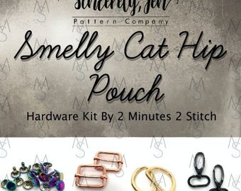 Smelly Cat Hip Pouch - Sincerely, Jen - Hardware Only