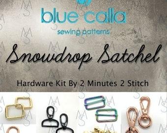 Snowdrop Satchel - Blue Calla Hardware Kit - Swivel Clips, D-Rings