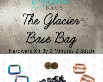 Glacier Base Bag Hardware Kit - Emmaline Bags - Hardware Kit by 2 Minutes 2 Stitch