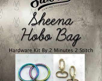 Sheena Hobo Bag - Swoon Patterns - Hardware Kit by 2 Minutes 2 Stitch