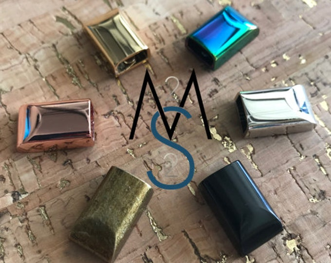 Metal Zipper Ends, End Tabs - Black, Rainbow, Rose Gold, Gold, Antique, Silver