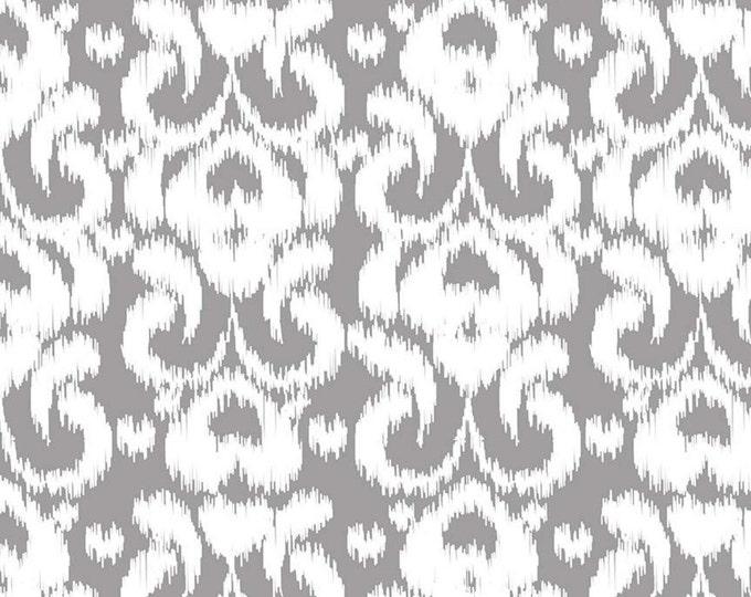 Ikat Knits by Riley Blake - Gray - Cotton/Spandex Knit - CLEARANCE