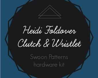 Heidi Foldover Clutch & Wristlet - Swoon Hardware Kit