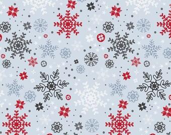 Snow Delightful by Studio E - Snowflakes Grey - Cotton Woven Fabric