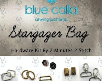 Stargazer Bag - Blue Calla - March 2018 Hardware Kit
