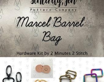 Marcel Barrel Bag - Sincerely, Jen - Hardware Only - Bag Hardware - 2 Minutes 2 Stitch