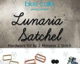 Lunaria Satchel - Blue Calla Patterns - Lunaria Hardware Kit Only - Bag Making Hardware - Bag Making Supplies