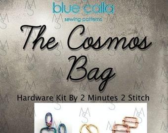 The Cosmos Bag Hardware Kit - Blue Calla Patterns - Cosmos Bag Hardware - Blue Calla Hardware Kit - Bag Making Hardware