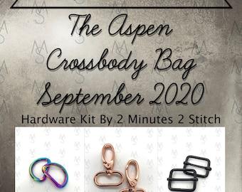 Aspen Crossbody - Bag of the Month Club - September 2020 Hardware Kit - Emmaline Bags
