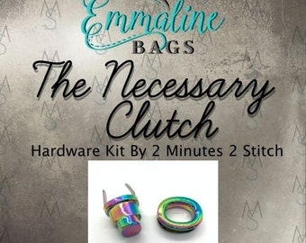 Necessary Clutch Wallet - Emmaline Bags - Hardware Kit by 2 Minutes 2 Stitch