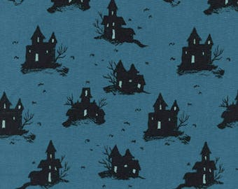 Lil' Monsters by Cotton + Steel - Trick-Or-Treat Teal - Cotton Woven Fabric