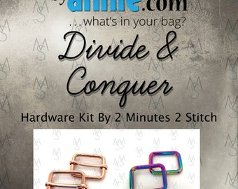 Divide & Conquer Hardware Kit - ByAnnie - Hardware Kit by 2 Minutes 2 Stitch