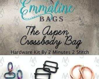 Aspen Crossbody Bag - Emmaline Bags - Hardware Kit by 2 Minutes 2 Stitch