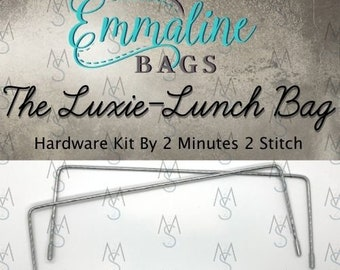 Luxie-Lunch Bag - Emmaline Bags - Hardware Kit by 2 Minutes 2 Stitch