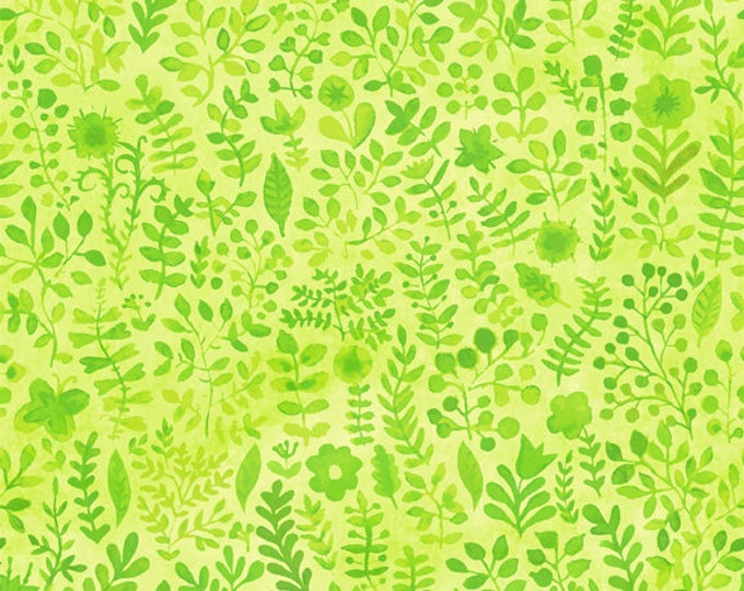 Floral Menagerie by In The Beginning Fabrics - Green Sprigs - Cotton Woven Fabric