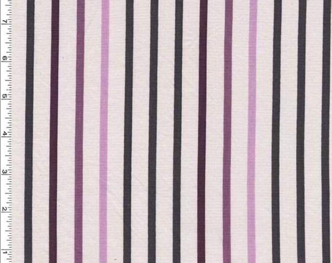 Michael Miller - Pavillion Stripe Plum - Cotton Woven Fabric