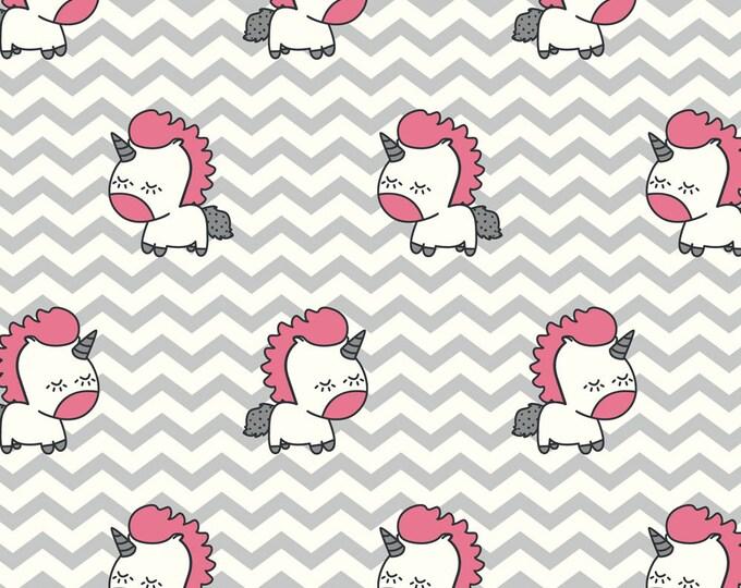 Avalana Knits by Stof Fabrics of Denmark - Baby Unicorns - Cotton Spandex Knit