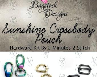 Sunshine Crossbody Pouch - Bagstock Designs - Bag Hardware Kit - Sunshine Hardware - Bagstock Hardware Kit - 2 Minutes 2 Stitch