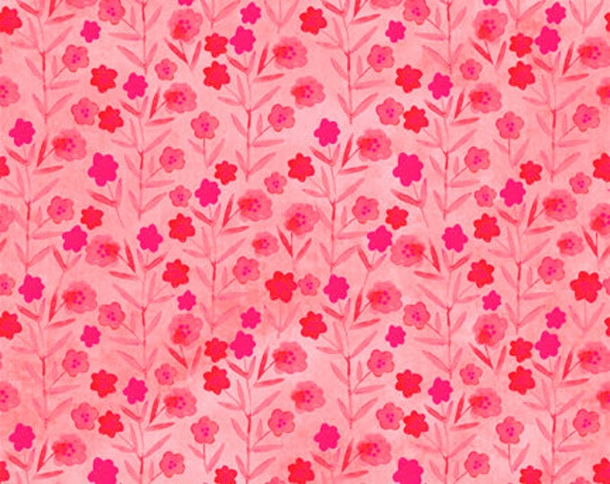 Floral Menagerie by In The Beginning Fabrics - Pink Posies - Cotton Woven Fabric