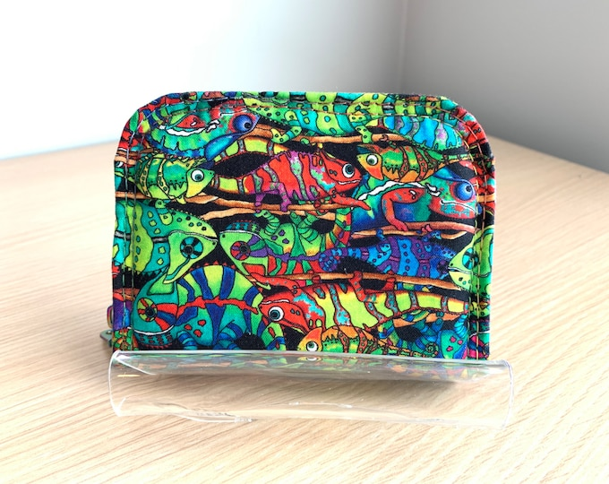 Mini Zip Around Wallet - Full Size Ladies Wallet - Fashion Wallet - Handbag Accessory - Coin Purse - Card Holder - Chameleon Wallet