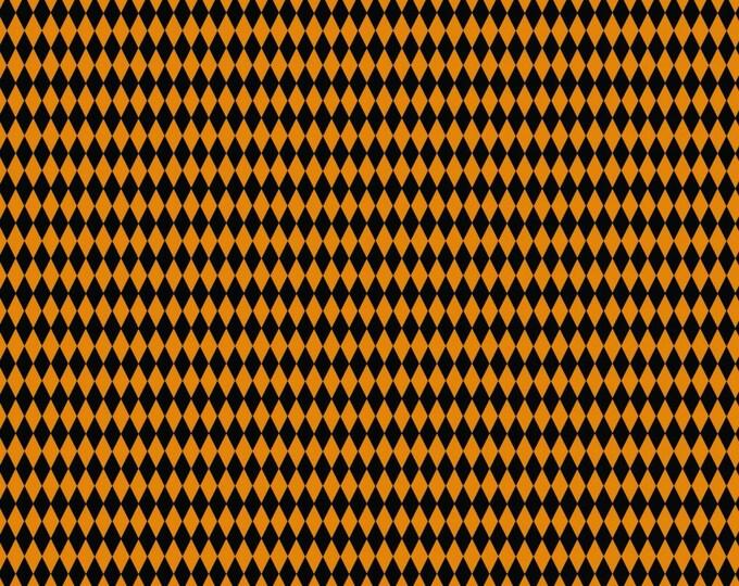Happy Halloween by Patrick Lose - Harlequin Orange - Cotton Woven Fabric