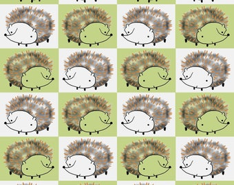 Just Friends by Fabric Editions - Hedgehogs - Cotton Woven Fabric