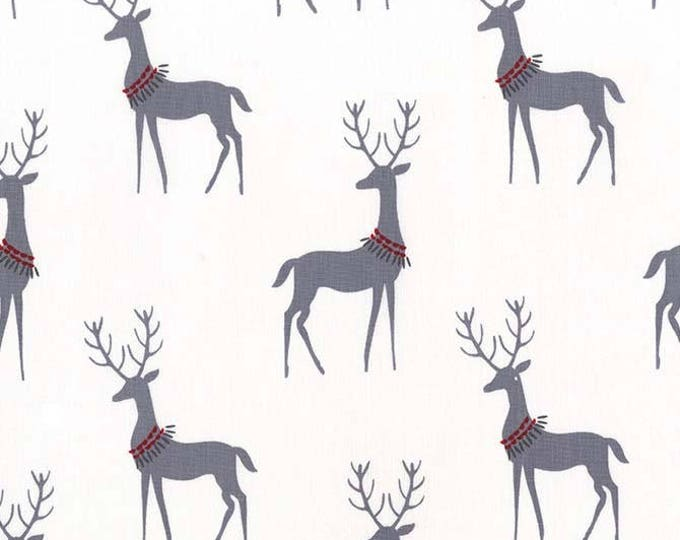 Woodland Winter by Michael Miller - Reindeer Winter - Cotton Woven Fabric