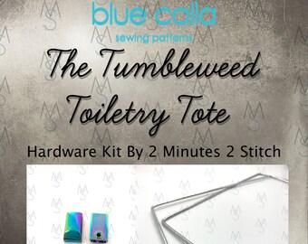 Tumbleweed Toiletry Tote Hardware Kit - Blue Calla Patterns - Tumbleweed Toiletry Bag Hardware Kit - 2 Minutes 2 Stitch