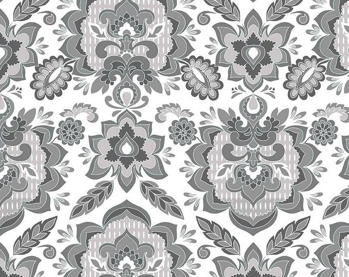 Fantine by Riley Blake - Damask White - Cotton Woven Fabric